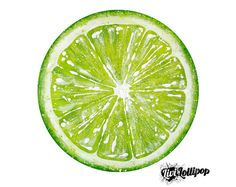 Lime fruit painting on 12 vinyl record lime by LiviLollipopShop