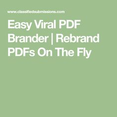Easy Viral PDF Brander | Rebrand PDFs On The Fly Make Money From Home, Make Money Online, How To Make Money, Bookmark This Page, Ways To Earn Money, Funny Quotes About Life, Fitness Motivation Quotes, Lead Generation, Blogging For Beginners