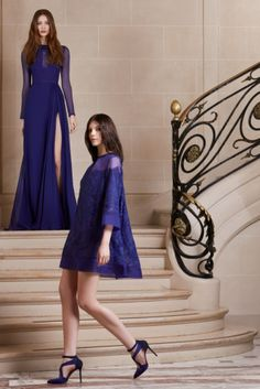ELIE SAAB Pre-Fall 2014 love the long dress in the back.