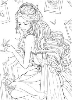 Cute Coloring Pages, Christmas Coloring Pages, Coloring For Kids, Colouring, Coloring Books, Pose Reference Photo, Art Reference Poses, Anime Drawings Sketches, Art Drawings