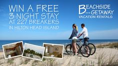 I just Pinned to enter to win a Free 3 Night stay at 227 Breakers courtesy of Beachside Getaway. Pin now for your chance to win this awesome getaway vacation!