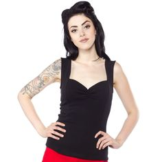 SOURPUSS FLOOZY TOP BLACK - This brand new top will leave you floored! If you own any of our Floozy Dresses, then you'll love the Floozy Top. Made from a stretchy spandex blend, this is the perfect staple to add to your wardrobe! It will fit perfectly tucked into a pencil or swing skirt, without leaving any weird bumps underneath.