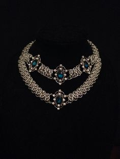 One of a kind chain maille choker/necklace  by ScarlettsTreasure on Etsy https://www.etsy.com/listing/196130491/one-of-a-kind-chain-maille