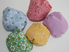 Otedama | A game played with are fabric beanbags (called ojami) which used to be sewn by grandmothers from silk kimono scraps.