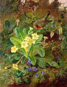 Primrose and Robin, 1864 - William John Wainwright (1855 - 1931)