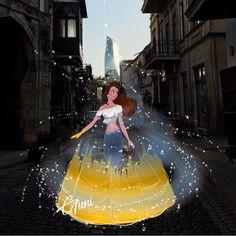 """Belle is in for a new adventure!"" She swapped her ball gown for a casual town outfit! Modern Style is the Best Walt Disney, Disney Nerd, Disney Fan Art, Cute Disney, Disney Girls, Disney Princess Fashion, Disney Princess Drawings, Disney Princess Art, Disney Drawings"