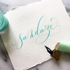"""""""Sundays   sundaze #calligraphy #freehand #pointedpen #sunday"""""""
