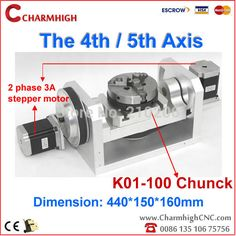 Free shipping New K01 100 Chuck CNC 4th axis / 5th axis (A aixs, rotary axis) for cnc router-in Wood Router from Industry & Business on Aliexpress.com | Alibaba Group