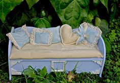 Blythe shabby chic wooden couch
