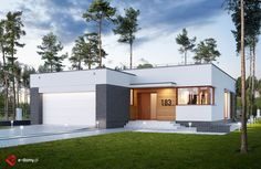 E-183 - E-DOMY.pl Projekty domów jednorodzinnych, piętrowych, energooszczędnych.