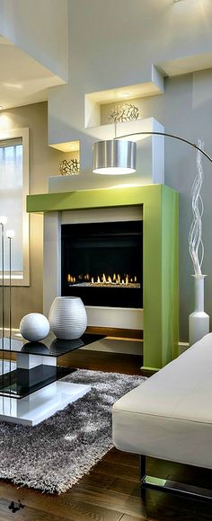 fun and interesting fireplace...