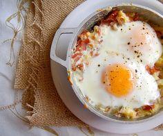Breakfast potato, ham and egg casserole