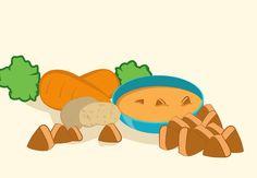 Papinha de batata, cenoura e músculo