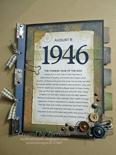 Great Birthday Card Idea For A Special Day Each Page Includes Facts And Trivia Of
