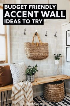 Budget friendly DIY accent wall ideas that actually look good. Save money and create the home of your dreams with these inspiring DIY accent wall projects to try. Decor, Diy Accent Wall, Classic Home Decor, Striped Accent Walls, Home Remodeling, Home Decor, Bedroom Wall, Faux Walls, Green Accent Walls