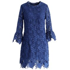 Demure Floral Crochet Shift Dress in Royal Blue - Retro, Indie and Unique Fashion Dress Brokat, Kebaya Dress, Lace Overlay Dress, Floral Lace Dress, Electric Blue Dresses, Royal Blue Lace Dress, Best Wedding Guest Dresses, Dress Wedding, Retro Dress