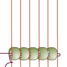 Basic Beading on a Loom: Step 3
