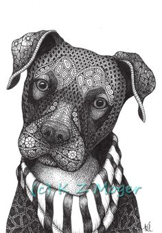 Domestic and Wild Zentangle Animal Portraits Zentangle Drawings, Mandala Drawing, Zentangle Patterns, Mandala Art, Art Drawings, Zentangles, Zentangle Animal, Dog Coloring Page, Adult Coloring Book Pages