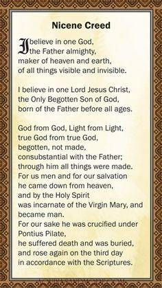 Revised Nicene Creed Holy Card