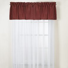 Oxford Red Valance - Bed Bath & Beyond