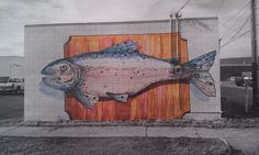 Big Fish. Mural concept, downtown Laramie, WY