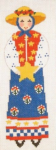 "Patriotic Lady Ornament | Cooper Oaks 2.5"" x 6.5"" $55. 