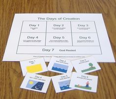 Days of Creation Matching Game