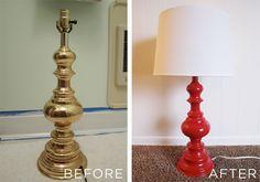 Spray painted lamp