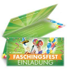 Gratis Einladungskarten Vorlagen für Ihr Faschingsfest. #fasching #faschingeinladung #faschingsfest