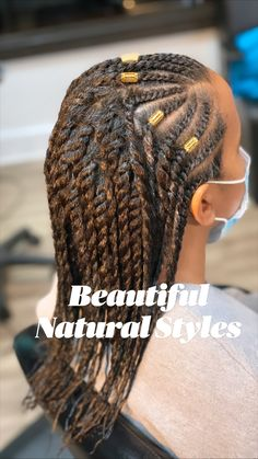 Flat Twist Hairstyles, Natural Braided Hairstyles, Protective Hairstyles For Natural Hair, Black Girl Braided Hairstyles, Natural Hair Braids, Braids For Short Hair, African Braids Hairstyles, Natural Hair Care, Short Hair Styles