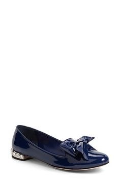 Miu Miu Bow Flat (Women) available at #Nordstrom
