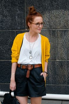 I LOVE this! Except I think I'd look like a nerd with my pants that high!