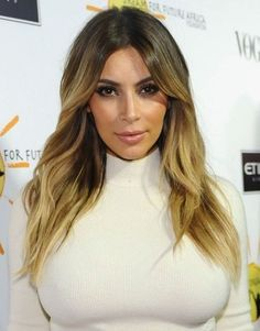 Kim Kardashian Hairstyles 2014: Center-Parted Hairstyles for Long Hair