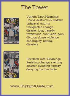 The Tower Tarot Meaning, The Tower Tarot Card, Tarot Significado, Tarot Cards For Beginners, Tarot Card Spreads, Online Tarot, Tarot Astrology, Tarot Major Arcana, Tarot Card Meanings