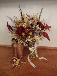Fall Bouquets, Fall Wedding Bouquets, Bride Bouquets, Floral Wedding, Burgundy Bouquet, Burgundy Flowers, Sola Wood Flowers, Dried Flowers, Wedding Flower Alternatives