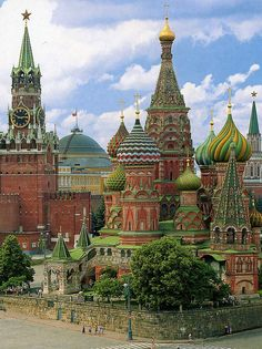 Russia, Moscow  A view of the incredible St.Basil's cathedral from the rear.