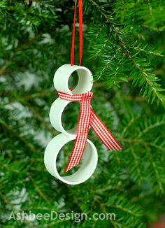DIY PVC Christmas Snowman Ornament by Marji  Roy @ AshbeeDesign.com