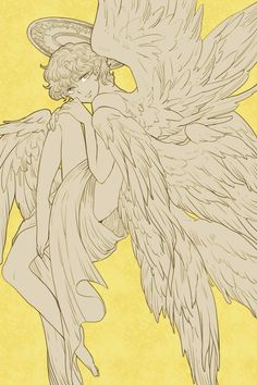 Character Art, Character Design, Wings Drawing, Devilman Crybaby, Angel And Devil, Art Reference Poses, Hand Reference, Art Poses, Angel Art