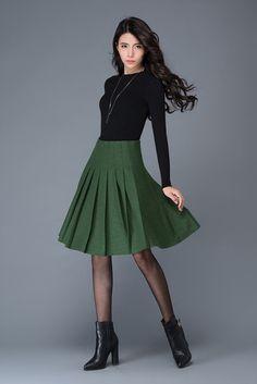 Office Look Hijab Maxi Skirts - Office Gray Skirt, Pleated Skirt, Midi Skirt, High Waisted Skirt, Jupe Swing, Swing Skirt, Swing Rock, Office Skirt, Office Dresses