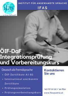 Integrationsprüfung und Vorbereitungskurs #IfaS #Deutsch #DaF #ÖIF Einstein, Kaiser Franz, Optimism, Learn Languages