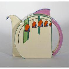 Art Deco tea pot - by Clarice Cliff Love Vintage, Vintage China, Vintage Hats, Vintage Pottery, Pottery Art, Arte Art Deco, Clarice Cliff, Teapots And Cups, Clay Teapots
