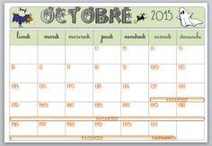 Affichage calendrier 2015 - 2016 - 3 zones - la Fouine en clis