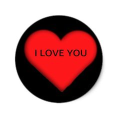 RED HEART, I LOVE YOU STICKER