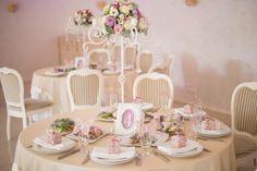 """Оформление столов для гостей в едином стиле. Главная свадебная резиденция Киева - """"Горный ручей"""""""