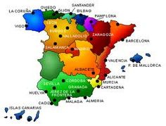 The wine map of Spain