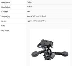 100.00$  Buy here - http://alikol.worldwells.pw/go.php?t=32456890732 - New Velbon Phd-55Q w/ Quick Release QRA-35L(B) Dslr Camera Video 100.00$