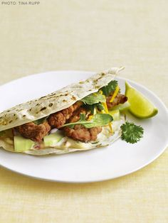 Crackling Fish Tacos with Chipotle Tartar Sauce recipe from Ingrid Hoffmann via Food Network