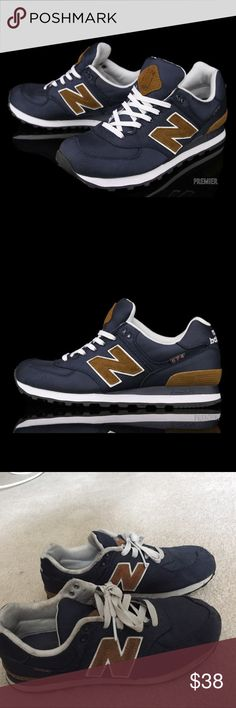 """New Balance 574 """"Backpack Pack"""" - Navy / Brown Worn! Size 5 boys fits women whose sizes are 6.5/7. Open to offers. New Balance Shoes Sneakers"""
