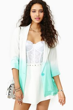 Great White Ombre Blazer