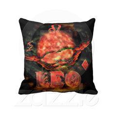Valxart creepy zodiac born Leo Throw Pillow from Zazzle.com
